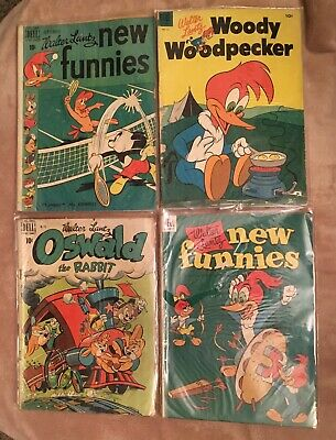 Vintage Lot Dell Walt Lantz Comic Book Oswald The Rabbit Woody Woodpecker MORE