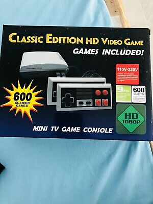 Mini Retro Game Gaming Console 600 Games Hdmi And Two Controllers