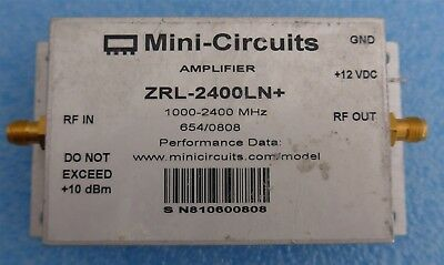 Mini-Circuits Zrl-2400ln+1000-2400mhz Sma Faible Bruit Amplificateur