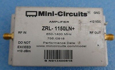 Mini-Circuits Zrl-1150ln+650-1400mhz Sma Faible Bruit Amplificateur