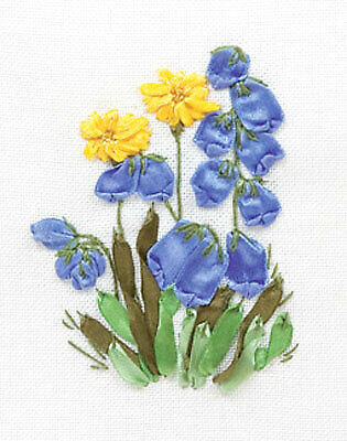 Panna Ribbon Embroidery Kit - C-0942 Bluebells and Dandelions