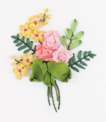 Panna Ribbon Embroidery Kit - Living Picture JK-2141 - Posy of Roses