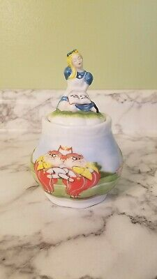 Alice in Wonderland Paul Cardew Covered Sugar Bowl 150th Anniversary Edition New