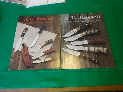 A.G. Russell Catalog of Knives 1989,1990, winter 2000 Marbles Knives on Cover