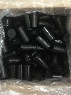 50 Pc 13 Dram Pop Top Bottle Black Child Resistant Prescription Herb Container