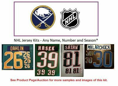 NHL Buffalo Sabres Lettering Custom Jersey Kit ANY YEAR Name Number UNSEWN
