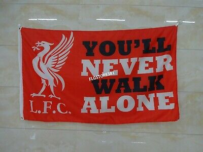 Liverpool Fc Flag Banner 3X5ft You'll Never Walk Alone