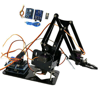 4 Axis Robotic Mechanical Arm Claw Gripper For Arduino Raspberry