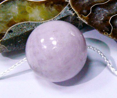 RARE HUGE NATURAL CHATOYANT PINK AFGHAN KUNZITE ROUND BEAD 20mm 67.25ctw