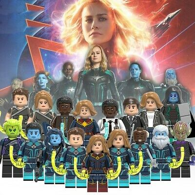 Captain Marvel Movie Minifigures Collector's Items Fit Lego Building Blocks