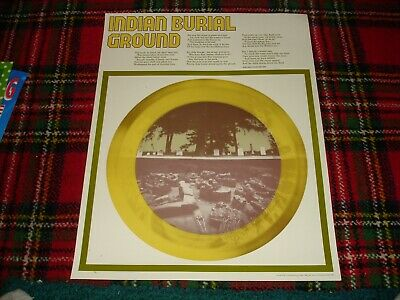 Vintage 1974 Native Burial Ground Poster ~ Perfection Form Co, VG+, Rare