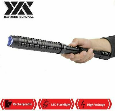 Expandable METAL 1118 - 85 BV Heavy Duty Stun Gun Rechargeable LED Flashlight