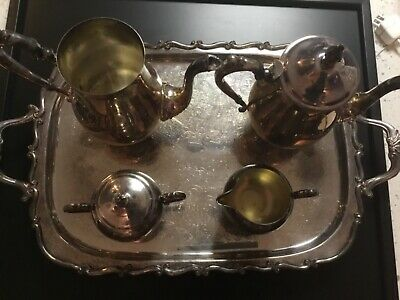 Vintage F. B. Rogers Silver Co, 1883- 5 pc. Coffee/Tea Service