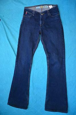 098 WOMENS EX-COND LEE RIDERS HIGH CROP FLARES BLK STRETCH JEANS SZE 10 $100 RRP