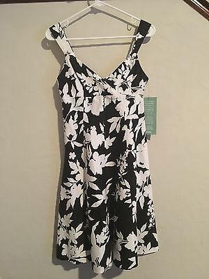 f0cde16ac Nwt American Living Black & White Flowers Dress Size 2 Jcpenney  Metropolitan Hol