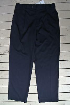 "MENS Size 36"" - 92cm NAVY PANTS Casual/Work Wear NNT Uniforms NEW Pleat Front"
