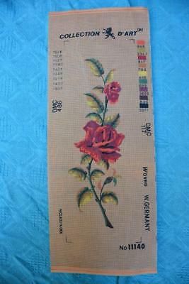 DMC Cotton NEW Tapestry Canvas RED ROSES Collection D'Art-GERMANY  #11140