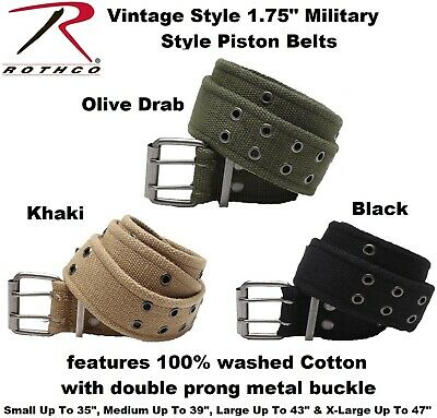 """Army Pistol Belt Military Double Prong Cot Belt Heavy Duty Two Hole 1.75"""" 4171"""
