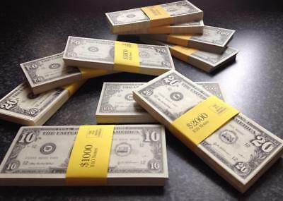 VARIETY PACKS OF NOVELTY DOLLARS - Fake USA Play Money Fun Pretend Prop USD U.S