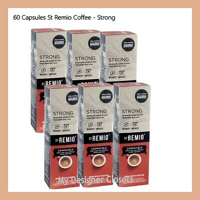 60 Capsules St Remio Strong Coffee Capsule Pod Caffitaly System Intensity 10