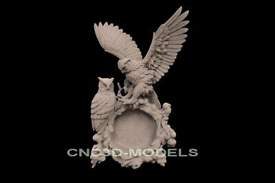 3D Model STL for CNC Router Carving Artcam Aspire Eagle Hunting Hunt f737