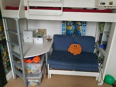 Stupendous Stompa High Sleeper Bed Double Sofa Bed And Desk Collect Bralicious Painted Fabric Chair Ideas Braliciousco