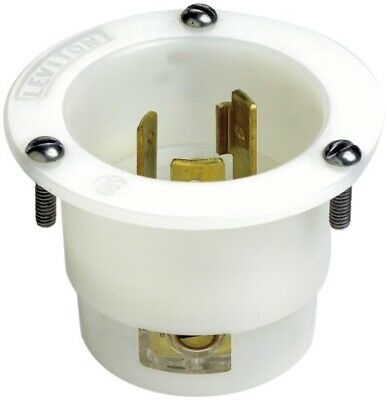 Leviton 2315 20 Amp, 125 Volt, Flanged Inlet Locking Receptacle, Industrial