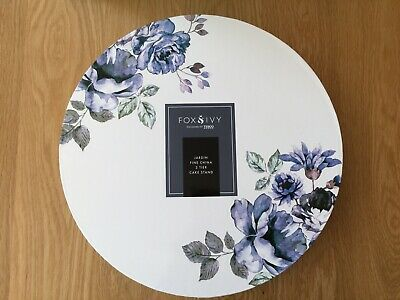 FOX & IVY Jardin Fine China 3 Tier Cake Stand - NEW & BOXED