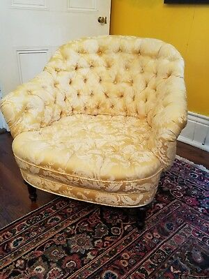 Antique Tufted Arm Chair