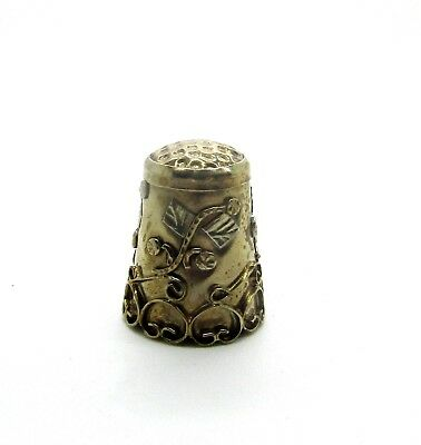 Very Nice Mexico Metal Thimble Stamped Alegre Mexico #2