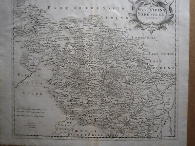 Yorkshire West Riding: antique map by Robert Morden, 1695 and later