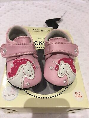 00a12e04f84c Jack   Lily Shoes 0-6 Months Pink Unicorn BNIB Baby Jack And Lily
