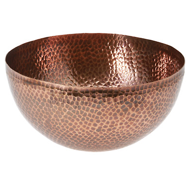 New ~ Thirstystone Urban Farm Medium Round Hammered Antique Bowl Copper Finish
