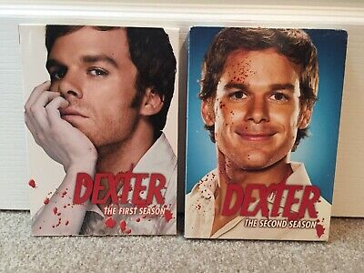 DEXTER Season 1 and Season 2: TV show, DVD format, Region 1, Boxed set, Tested!
