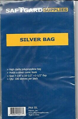 100 Silver Age Size Comic Book Bags And 100 Backing Boards Archival Safe