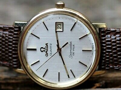 1977 Vintage OMEGA 10kGF Seamaster DeVille Quartz JUST SERVICED!