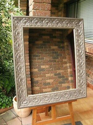 Traditional Wall Mirror Ornate Heritage Stone Grey Frame 95x83cm