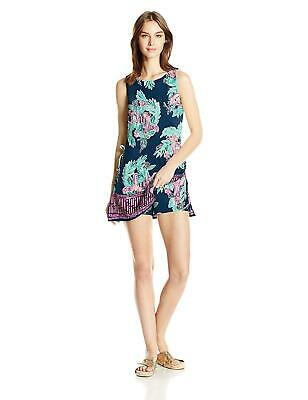 b0ff37ad4e4e NWT LILLY PULITZER NEW Peanut Gallery Engineered Inky Navy Donna Romper 0