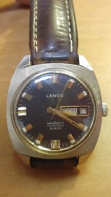Vintage Lanco Seaborn Automatic Swiss Cal.6148 Working Fine Ben Funzionante