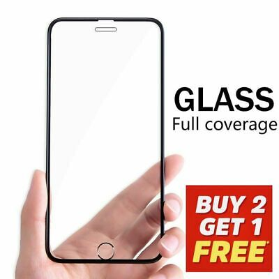 NEW Full Tempered Glass Screen Protector for iPhone 7 8 Clear Display Saver