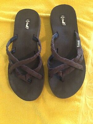 21e5476bcaa9 WOMEN S TEVA MUSH Olowahu All Brown Strappy Flip Flop Sandals Size 8 ...