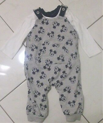 4a4ad5c91 DISNEY BABY MICKEY Mouse Dungaree Set 6-9 Months - £3.20 | PicClick UK