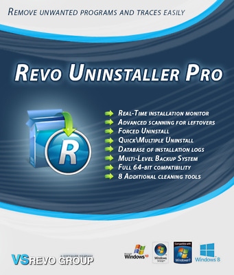 Revo Uninstaller Pro Version 3 For 1 PC Users -  Lifetime License