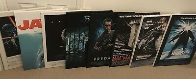 Movie Canvas Collection - Alien, Die Hard, Jaws, Predator, The Thing And More!
