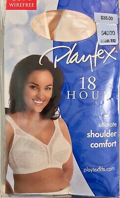 7e1a227da Playtex 18 Hour Ultimate Shoulder Comfort Wirefree Bra Size 54 Ddd Beige   new