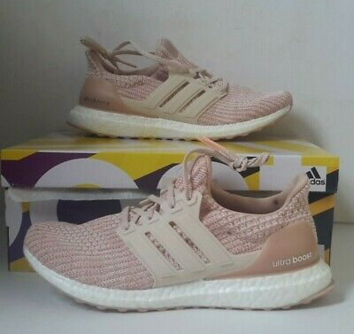 0df607406d671 Adidas Ultra Boost Women s BB6497 Ash Pearl Clear Orange Primeknit Shoes  Size 9