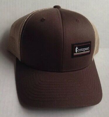 COTOPAXI OUTDOOR HIKING CAMPING GEAR BASEBALL CAP HAT, BROWN and KHAKI, NEW NWOT
