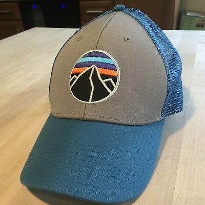 Patagonia Fitz Roy Emblem Lopro Trucker Hat Mint Worn Once - Feather Grey -  2015 33c3e4c9d798