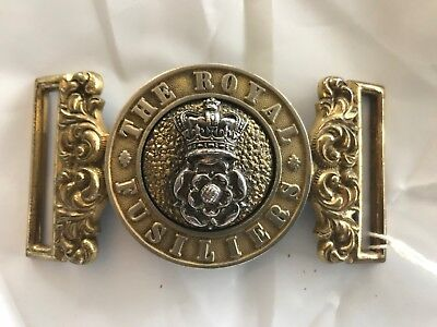 The Royal Fusiliers Officers Waist Belt Clasp 1881-1902 Pattern