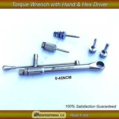 Dental Implant For Straumann Torque Wrench Ratchet 0-45 NCM & Hand / Hex Driver